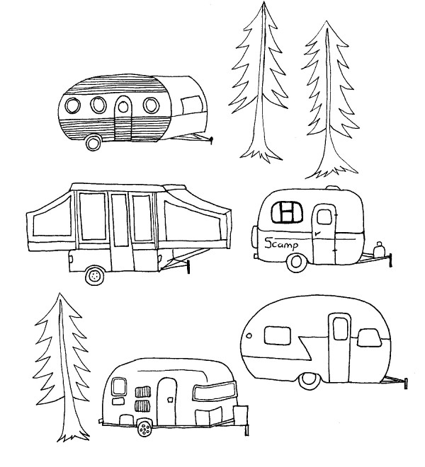 camper trailer coloring pages - 1000 images about color camping on pinterest printable